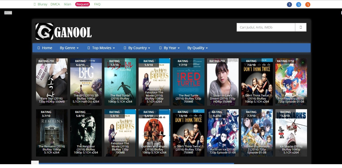 Top 10 best internet movie database best movie sites screenshot of an official site of ganool reheart Image collections