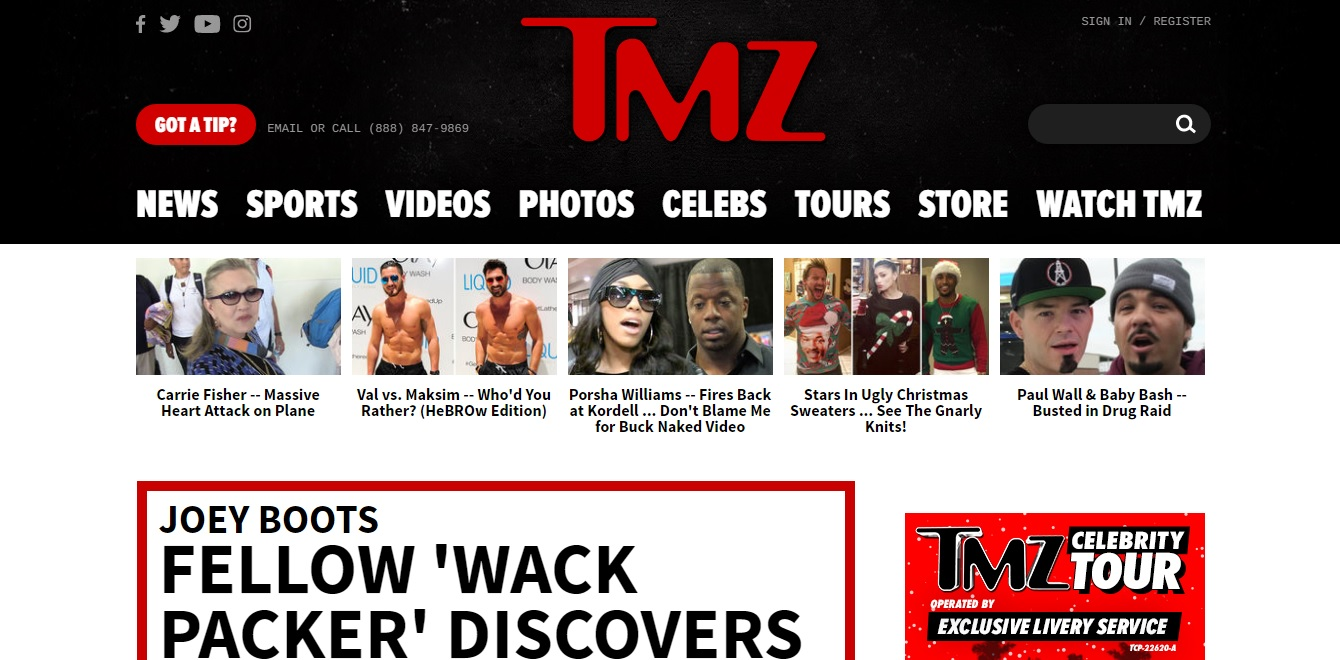 What is a good website for the latest in Hollywood gossip?